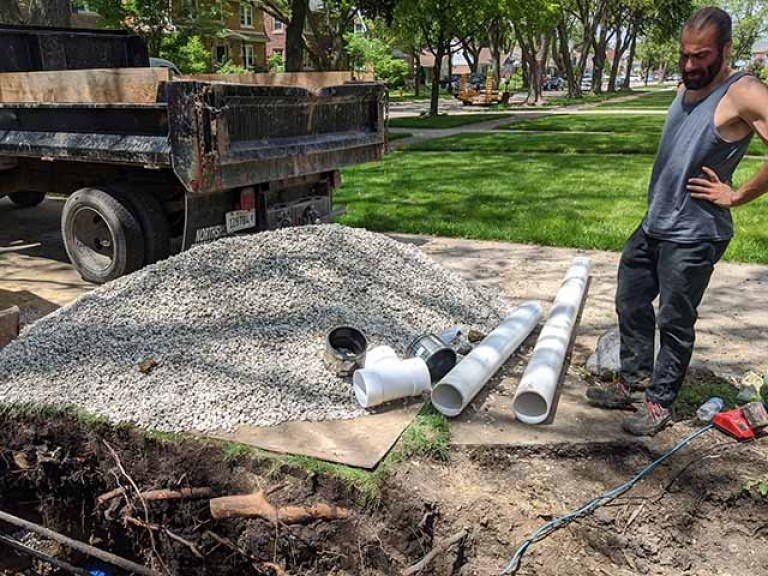 Back fill & PVC For Sewer