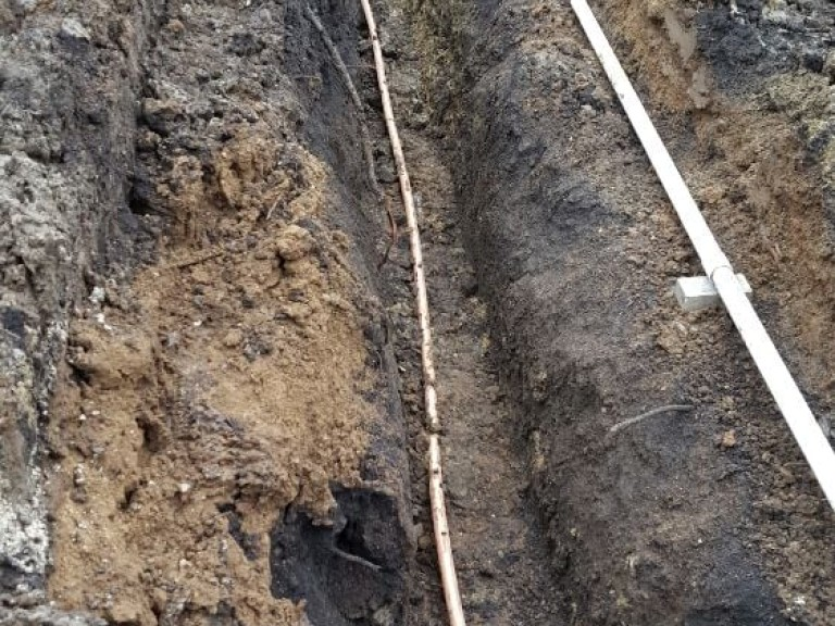 Sewer Dig Trench